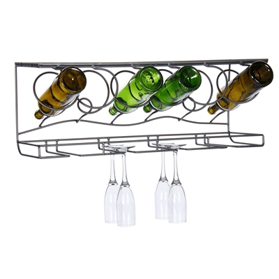 [bottle glass wine rack]