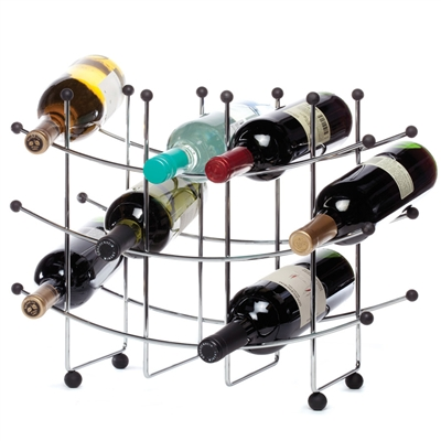 [15 BOTTLE WINE RACK]