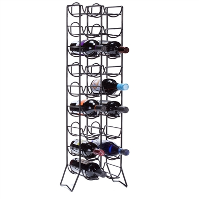 [18 BOTTLE WINE RACK]