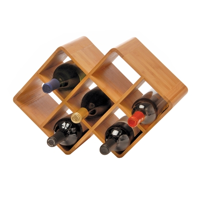 [BAMBOO WINE RACK 8 BOTTLE