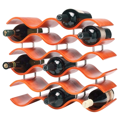 [BALI 15 BOTTLE WINE RACK