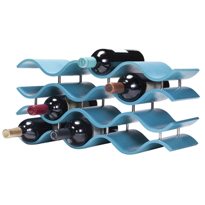 [BALI AQUA 12 BOTTLE WINE RACK]