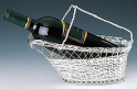[silver wine decanting basket]